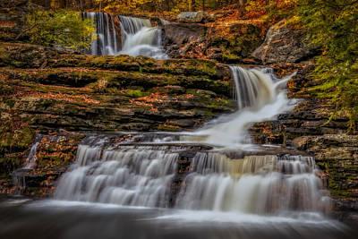 Photograph - Autumn Waterfalls by Susan Candelario