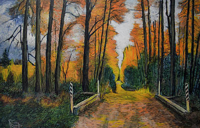 Painting - Autumn Way by Ron Richard Baviello