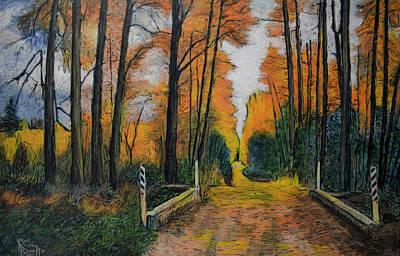 Painting - Autumn Way by Ron Richard Baviello