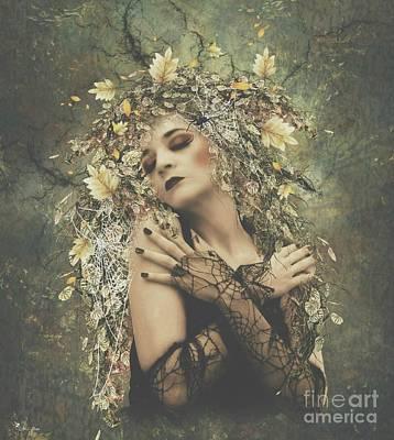Digital Art - Autumn Webs by Ali Oppy