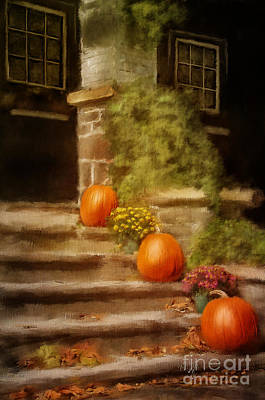 Autumn Leaf Digital Art - Autumn Welcome by Lois Bryan