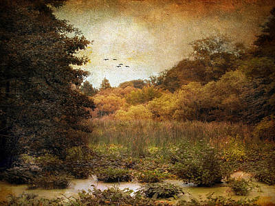 Autumn Landscape Digital Art - Autumn Wetlands by Jessica Jenney
