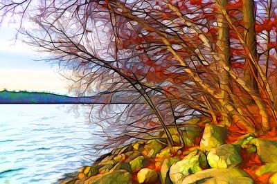 Plein Air Mixed Media - Autumn Whispers by Lilia D