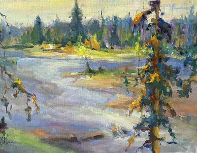 Wall Art - Painting - Autumn Wilderness by Kathryn McMahon
