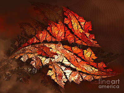 Autumn Wind Print by Jutta Maria Pusl