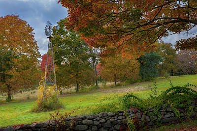 Stonewall Photograph - Autumn Windmill by Bill Wakeley
