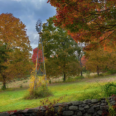 Photograph - Autumn Windmill Square by Bill Wakeley