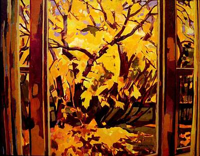 Art Print featuring the painting Autumn Window by Tim  Heimdal