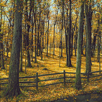 Painting - Autumn Woodland by Doug Kreuger
