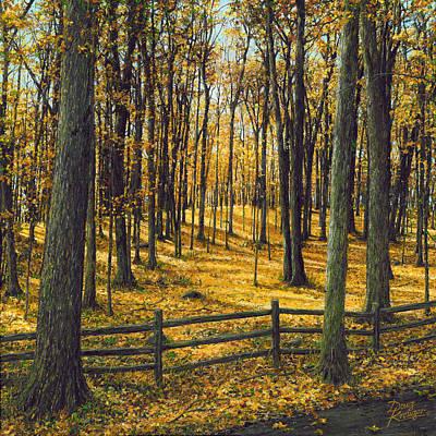 Autumn Woodland Original by Doug Kreuger