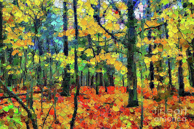 Digital Art - Autumn Woods by Gene Healy