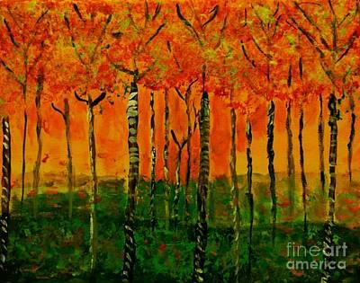 Painting - Autumn Woods by Scott Hervieux