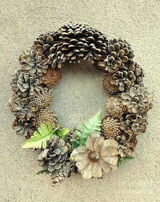 Photograph - Autumn Wreath by Erika H