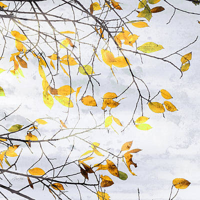 Photograph - Autumn Yellow Leaves Two by Ann Powell