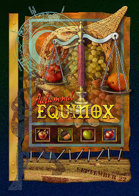 Harvest Mixed Media - Autumnal Equinox by Ernestine Grindal