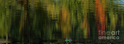 Photograph - Autumnal Reflections by Les Palenik