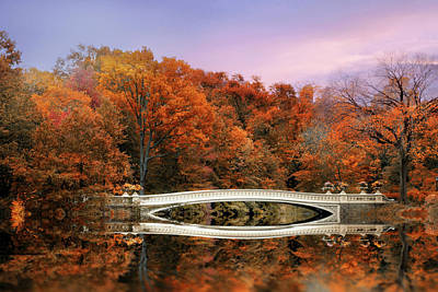 Photograph - Autumnal Reflections Of Bow Bridge by Jessica Jenney