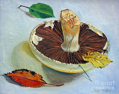 Mushroom Painting - Autumnal Still Life, by Tilly Willis