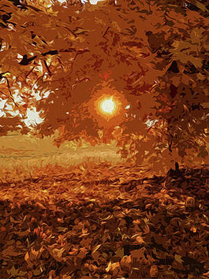 Sunlight Painting - Autumnal Sunlight by Andrea Mazzocchetti