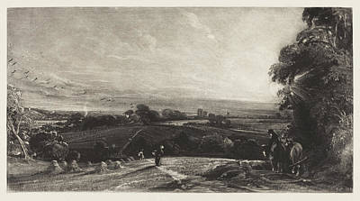 Painting - Autumnal Sunset by David Lucas after John Constable