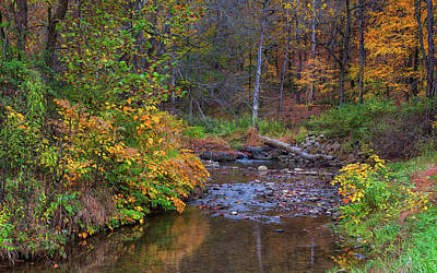 Photograph - Autumnal Tomlinson Run by John M Bailey