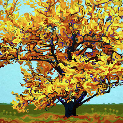 Painting - Autumnal Yellow Treet by Amy Ferrari