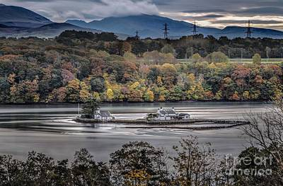 Wales Digital Art - Autumnn In The Menai Straits  by Chris Evans