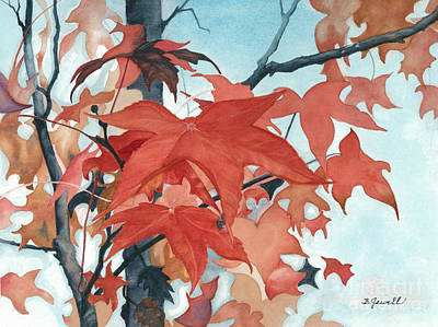 Art Print featuring the painting Autumn's Artistry by Barbara Jewell