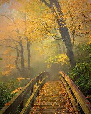 Autumn's Bridge To Heaven Art Print