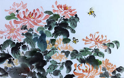 Painting - Autumn's Buzz by Laurie Samara-Schlageter