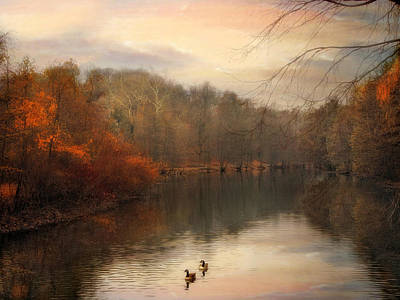 Autumn's Ebb Art Print by Jessica Jenney