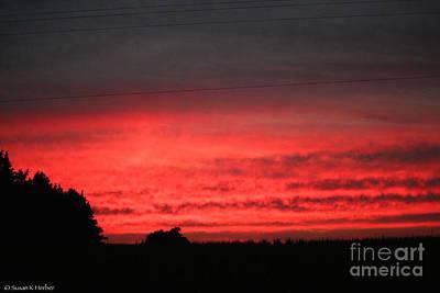 Photograph - Autumn's Fire by Susan Herber