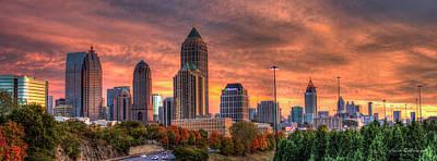 Autumns Glow Atlanta Sunset Art Art Print by Reid Callaway