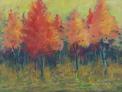 Painting - Autumn's Glow by Lee Beuther
