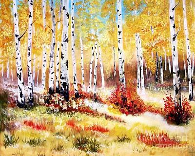 Painting - Autumns Gold by Leslie Allen