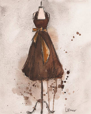 Autumn's Gold Vintage Dress Art Print by Lauren Maurer