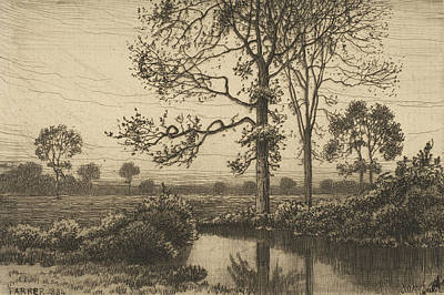Relief - Autumn's Grey And Melancholy by Henry Farrer
