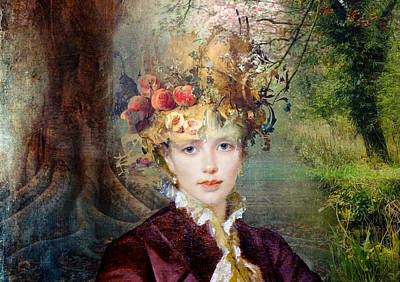 Vintage Painting - Autumn's Hat by Laura Botsford