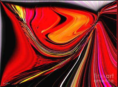 Digital Art - Autumn's Highway by Iris Gelbart