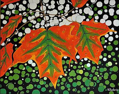 Art Print featuring the painting Autumns Kiss by Kathleen Sartoris