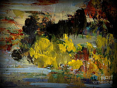 Painting - Autumn's Last Days by Nancy Kane Chapman