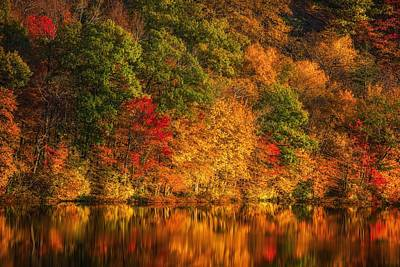 Photograph - Autumn's Muse - Black Pond by Kim Carpentier