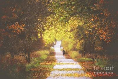 Photograph - Autumn's Path by Elizabeth Winter