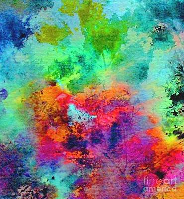 Painting - Autumn's Rainbow by Hazel Holland