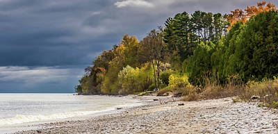 Photograph - Autumn's Shoreline by Patti Raine