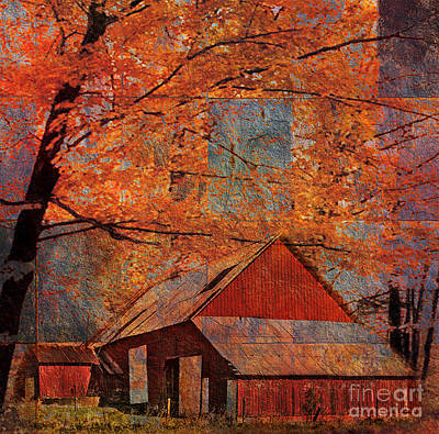 Digital Art - Autumn's Slate 2015 by Kathryn Strick