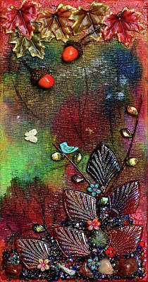 Mixed Media - Autumn's Song by Donna Blackhall