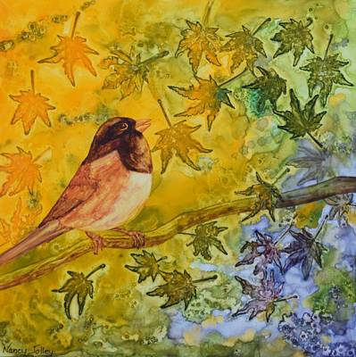 Painting - Autumn's Song by Nancy Jolley