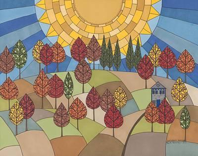 Autumn's Tapestry Art Print by Pamela Schiermeyer