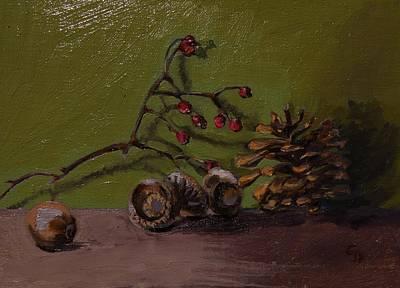 Painting - Autumns' Treasures by Grace Diehl